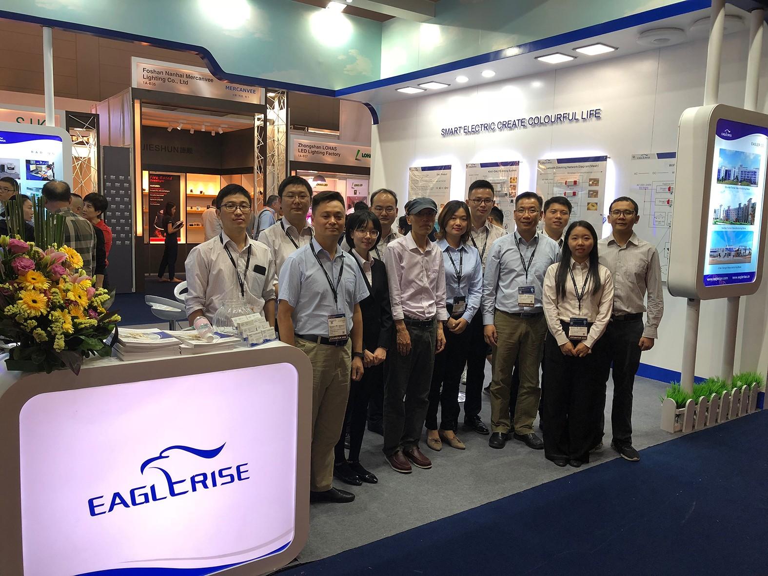 Eaglerise приняла участие в Гонконгской ярмарке освещения 2018 года (осень), представив интеллектуальные светодиодные драйверы.